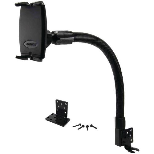 "Arkon Black Slim-Grip Flexible Seat Bolt 7"" Tablet or Phone Mount (GN088-SBH + SM050-2)"