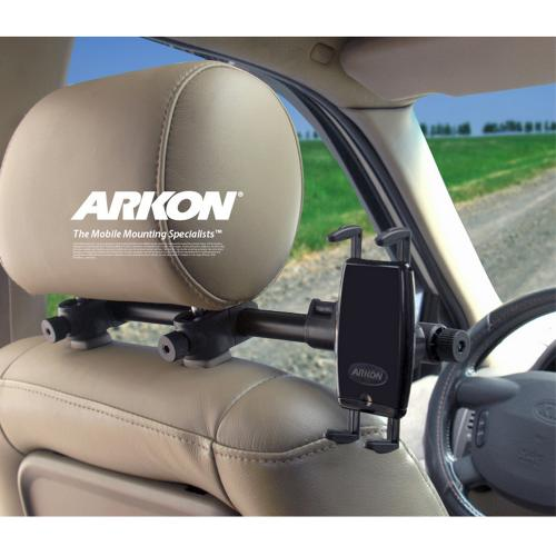 Arkon Black Deluxe Headrest Mount for iPad Mini for Centered Viewing (SM060-2 + HM003-SBH)