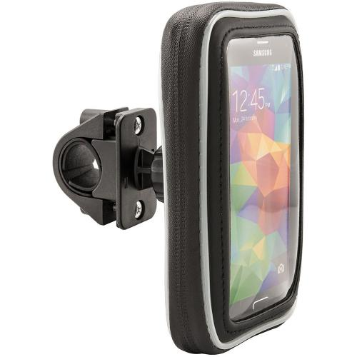 "Arkon Black Water Resistant Protective Case for 5"" Smartphones with Bicycle Handlebar Mount (GN032-SBH + WPCS5WS)"