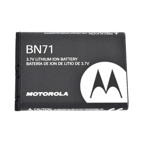 Original Motorola Barrage V860 Standard Replacement Battery, BN71 - Black (1170 mAh)