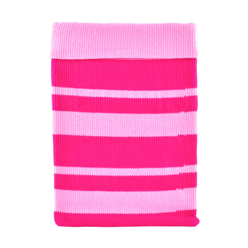 Apple iPad (1st Gen) Sock Cover - Pink Stripes on Baby Pink