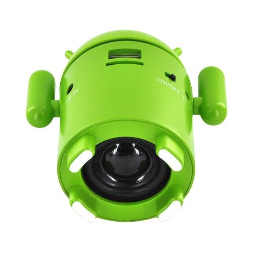 Universal Android Speaker w/ USB/ Micro SD/ 3.5mm Ports & FM Radio - Green
