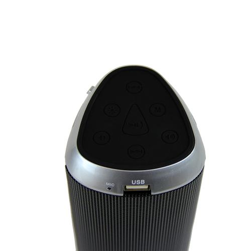 CycloneSound FLASH Portable Mini Bluetooth Music Speaker w/ Memory Card Slot & LED Lights [Silver]