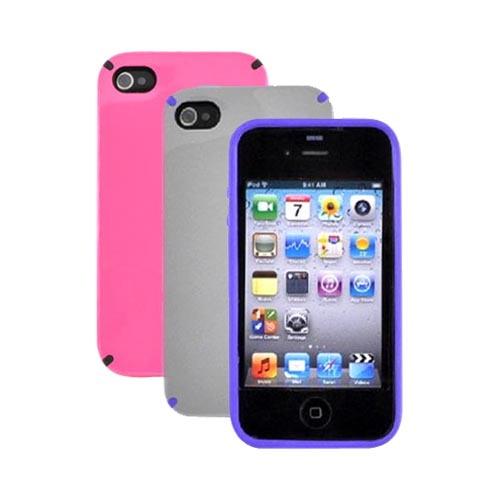 AT&T Apple iPhone 4 Speck Purple and Pink Apple iPhone 4 Speck CandyShell Hard Case Bundle