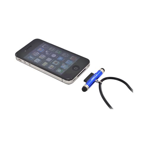 Original Cellet Apple iPhone/ iPod Stylus Pen w/ Neck Strap - Blue/ Black