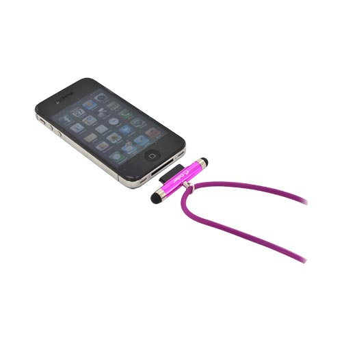 Original Cellet Apple iPhone/ iPod (excluding Lightning) Stylus Pen w/ Neck Strap - Magenta