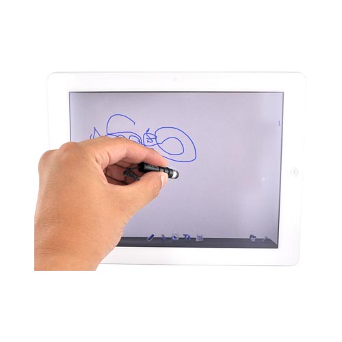 Universal Mini Stylus Pen for Touch Screen - Black, Silver
