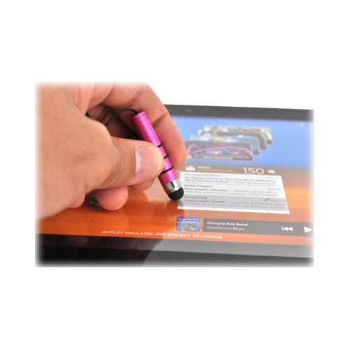 Universal Mini Stylus Pen for Touch Screen - Hot Pink