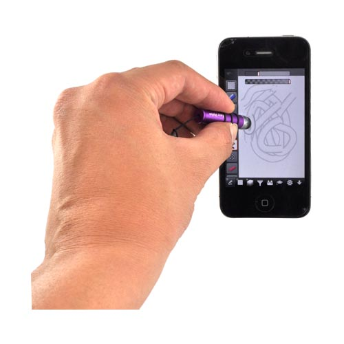 Mini Stylus Pen for Touch Screen - Purple/ Silver