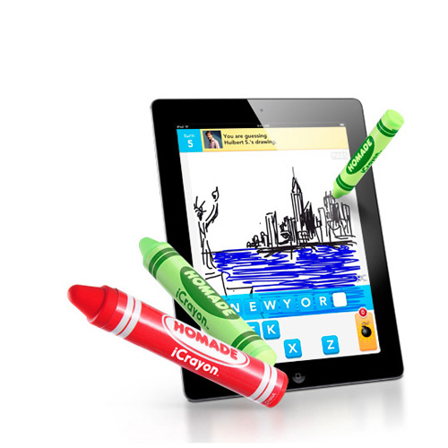 Original Homade iCrayon Stylus Pen for Touch Screens - Red Crayon