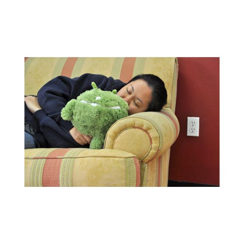 "Squishable Uber Soft 7"" Round Android Plush Pillow - Green/ White"