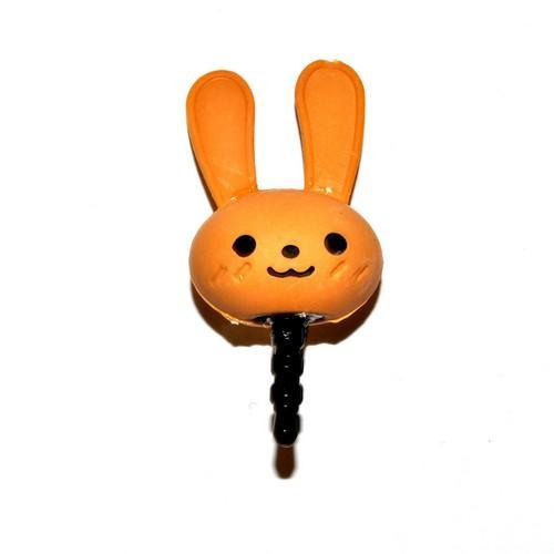 3.5mm Headphone Jack Stopple Charm - Cute Light Brown Bunny