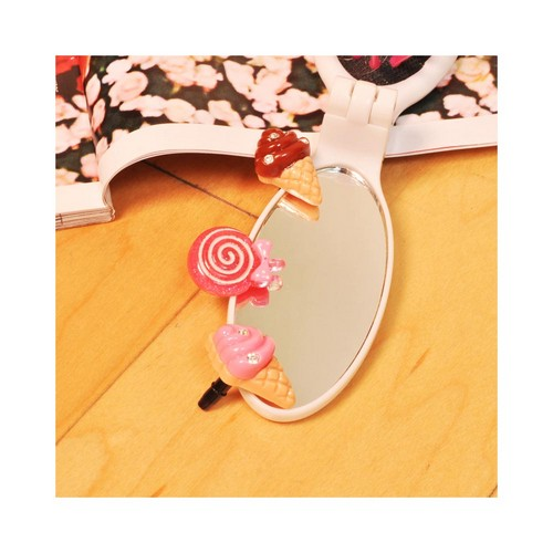 Universal 3.5mm Headphone Jack Stopple Charm - Pink Lollipop w/ Pink Bow