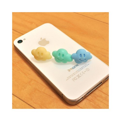 Universal 3.5mm Headphone Jack Stopple Charm - Light Yellow Cloud