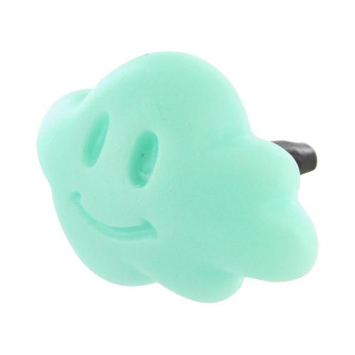 3.5mm Headphone Jack Stopple Charm - Mint Green Cloud
