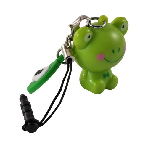 Green Frog Universal 3.5mm Light Up Headphone Jack Stopple Charm