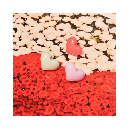Universal 3.5mm Headphone Jack Stopple Charm - Mint Heart
