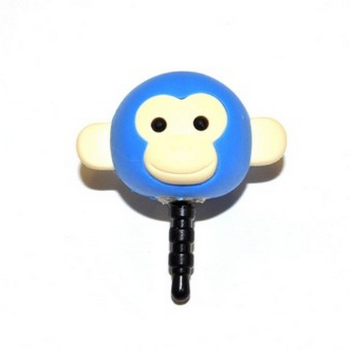 Universal 3.5mm Headphone Jack Stopple Charm - Blue Monkey
