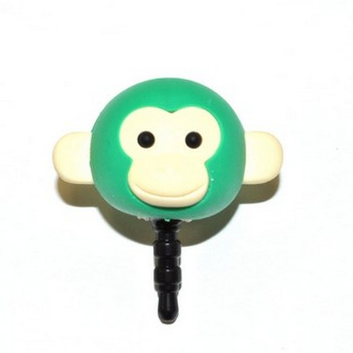 3.5mm Headphone Jack Stopple Charm - Green Monkey