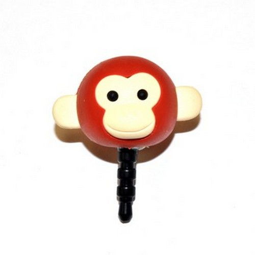 Universal 3.5mm Headphone Jack Stopple Charm - Rust Brown Monkey