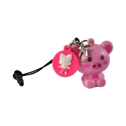 Pink Pig Universal 3.5mm Light Up Headphone Jack Stopple Charm