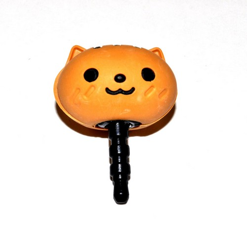 3.5mm Headphone Jack Stopple Charm - Cute Brown Squirrel