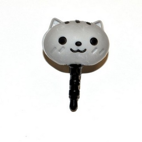 3.5mm Headphone Jack Stopple Charm - Cute Gray Squirrel