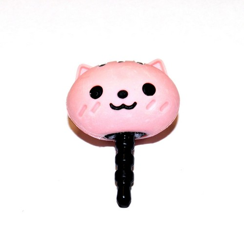 Universal 3.5mm Headphone Jack Stopple Charm - Cute Pink Squirrel