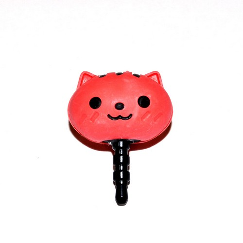 3.5mm Headphone Jack Stopple Charm - Cute Red Squirrel