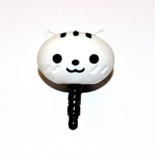 3.5mm Headphone Jack Stopple Charm - Cute White Squirrel