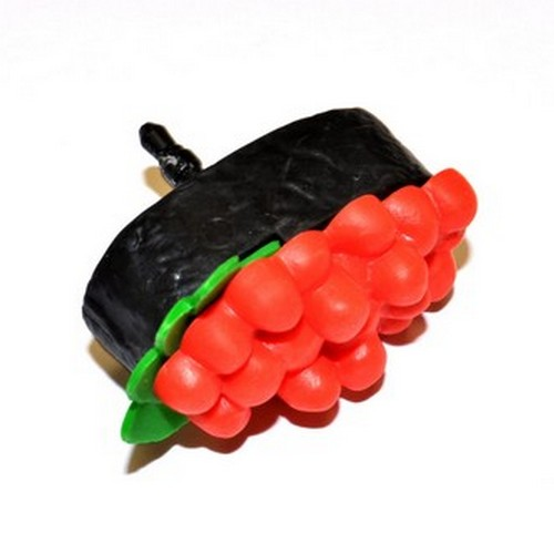 3.5mm Headphone Jack Stopple Charm - Red/ Black Sushi