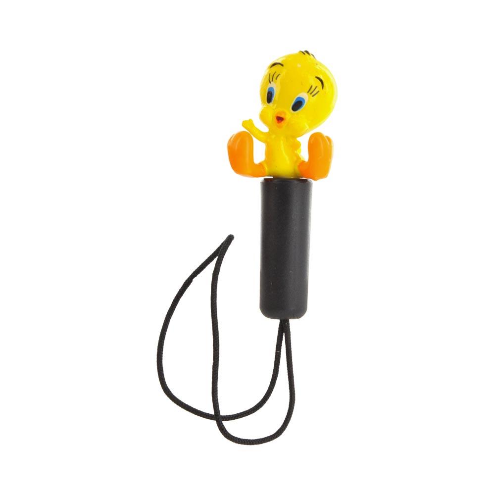 Original Warner Bros. Universal 3.5mm Headphone Jack Stopple Charm - Tweety Bird with Arm Out