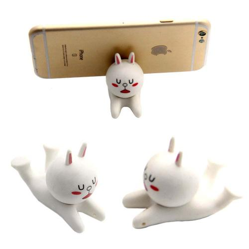 Cute Bunny Mobile Phone Holder Stand [White]