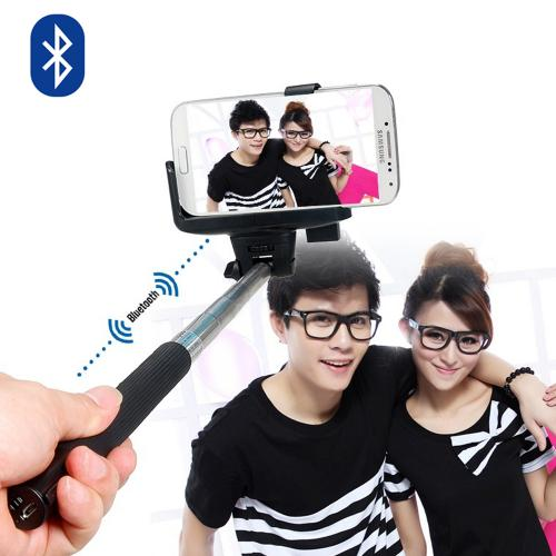 Extendable Wireless Self Portrait Selfie Handheld Monopod Stick for Smartphones and Cameras - Connect to your device via Bluetooth!