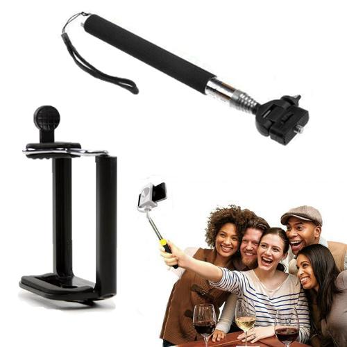 Handheld Extendable Selfie Stick - Monopod Self-Portrait Selfie Stick w/ Rotating Head - Take the perfect selfie from your phone or GoPro!