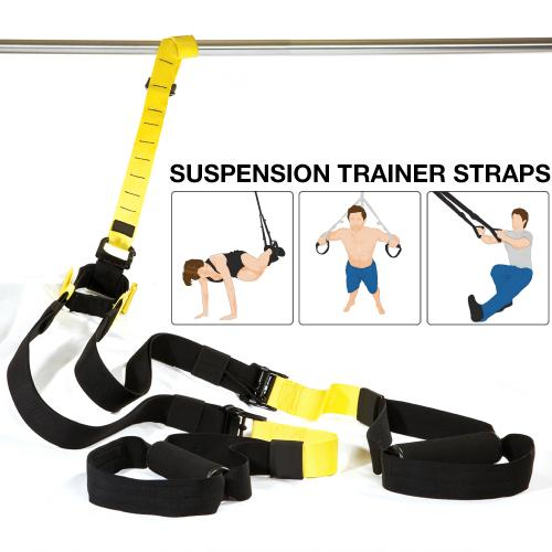 Suspension Trainer Straps - Heavy Duty Ultimate Strength Fitness, Yoga Workout for Home and Gym!
