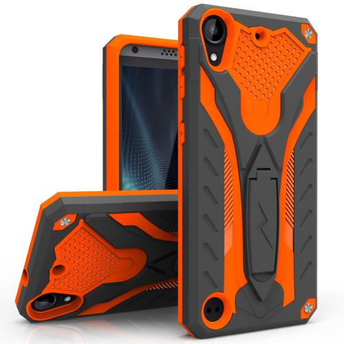 [HTC Desire 530] Case, STATIC Dual Layer Hard Case TPU Hybrid [Military Grade] w/ Kickstand & Shock Absorption [Orange/ Black]