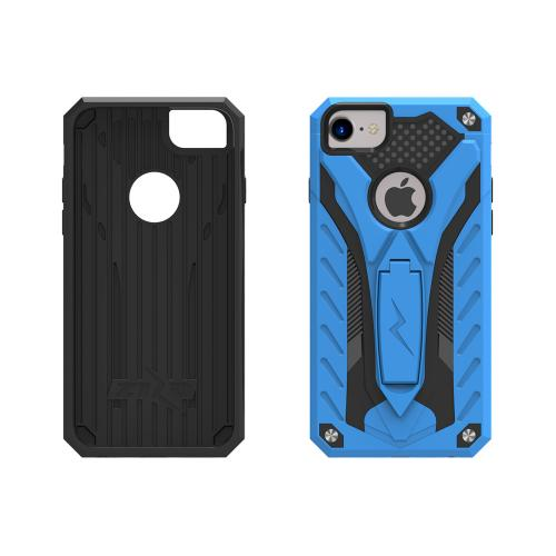 Apple iPhone 7 (4.7 inch) Case, STATIC Dual Layer Hard Case TPU Hybrid [Military Grade] w/ Kickstand & Shock Absorption [Blue/ Black] - (ID: STT-IPH7-BLBK)