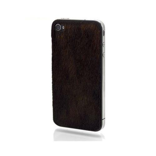 Original Slickwraps Fur Series AT&T/ Verizon iPhone 4, iPhone 4S Genuine Full-Grain Leather Skin w/ Screen Protector, SW-AIP4-BEARFUR - Brown Bear