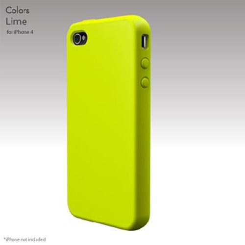Original SwitchEasy Apple Verizon/ AT&T iPhone 4, iPhone 4S Colors Silicone Case, SW-COL4-L - Lime
