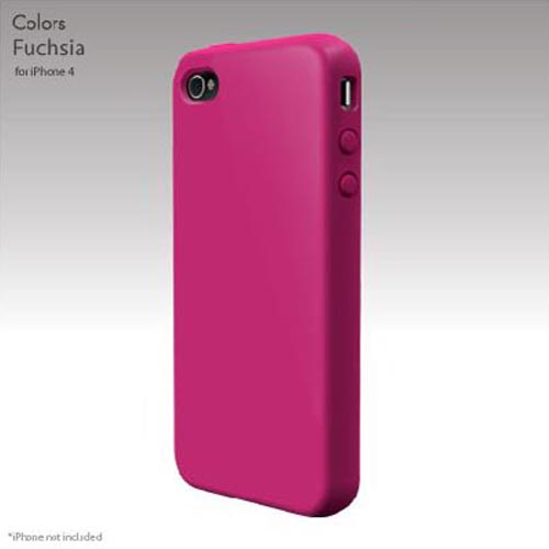 Original SwitchEasy Apple iPhone 4 Colors Silicone Case, SW-COL4-P - Fuchsia