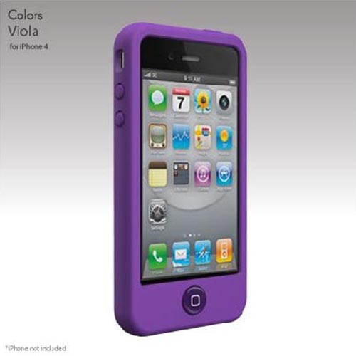 Original SwitchEasy Apple iPhone 4 Colors Silicone Case, SW-COL4-PU - Viola