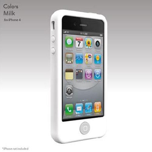 Original SwitchEasy Apple Verizon/ AT&T iPhone 4, iPhone 4S Colors Silicone Case, SW-COL4-W - Milk