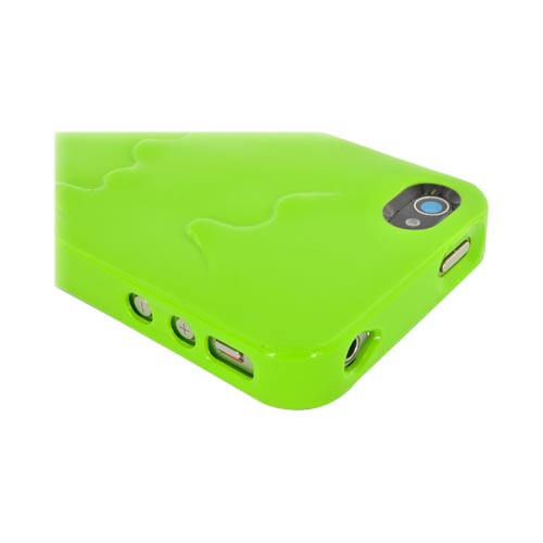 Original SwitchEasy AT&T/ Verizon Apple iPhone 4, iPhone 4S Melt Slide-On Hard Case w/ Screen Protector, & Stand, SW-MEL4S-L - Lime Green/ Hot Pink
