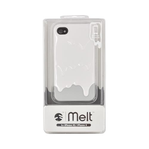 Original SwitchEasy AT&T/ Verizon Apple iPhone 4, iPhone 4S Melt Slide-On Hard Case w/ Screen Protector & Stand, SW-MEL4S-W - White/ Light Gray