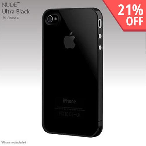 Original SwitchEasy Apple iPhone 4 Nude Slim Case, SW-NUI4-UB - UltraBlack