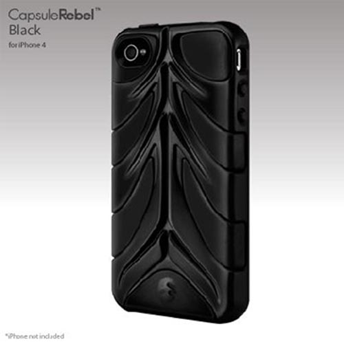Original SwitchEasy Apple iPhone 4 Capsule Rebel Hybrid Case, SW-REB4-BK - Black