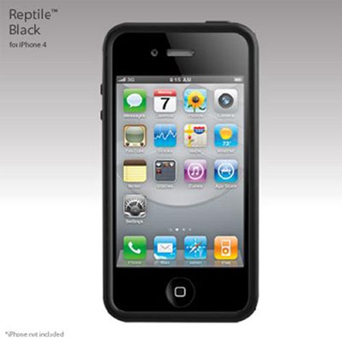 Original SwitchEasy Apple iPhone 4 Reptile Hybrid Case, SW-REI4-BK - Black