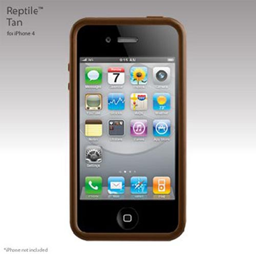 Original SwitchEasy Apple iPhone 4 Reptile Hybrid Case, SW-REI4-T - Tan