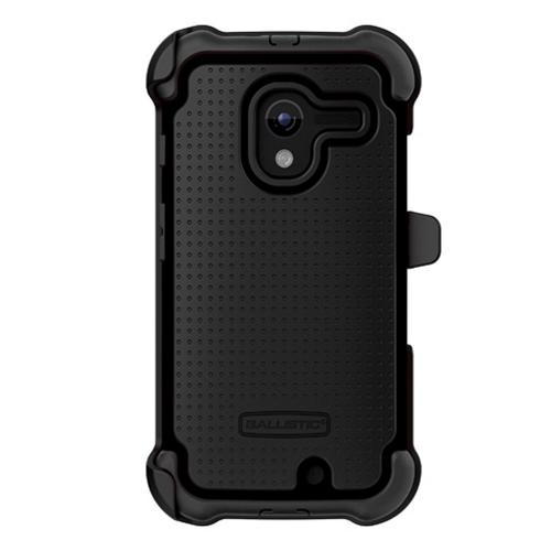 Ballistic Black SG MAXX Series Hybrid Case w/ Holster & Built-In Screen Protector for Motorola Moto X - SX1189-A065